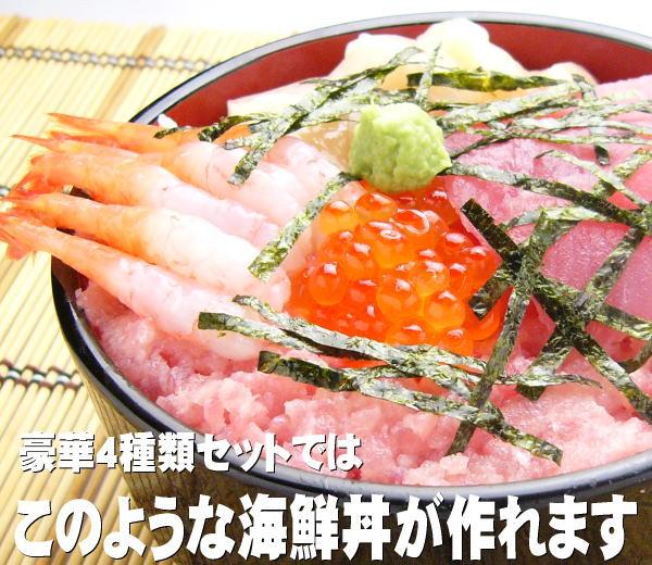 このような海鮮丼が作れます