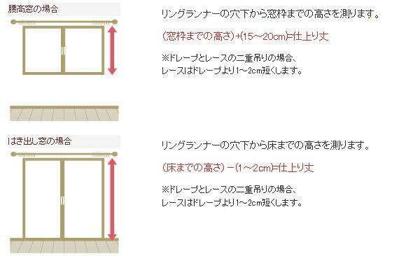 防音カーテン 丈の採寸ガイド