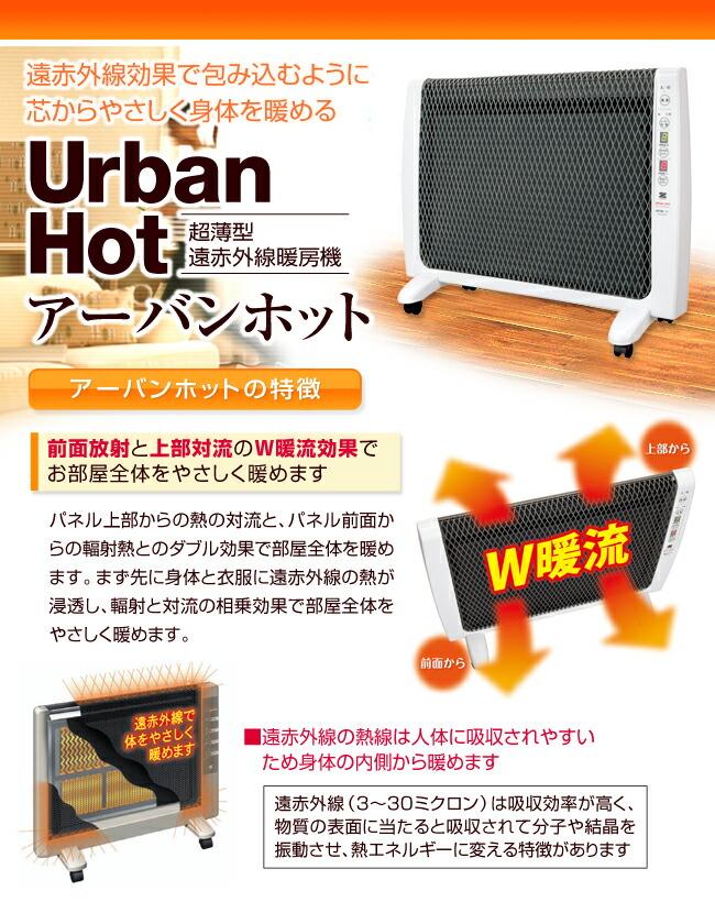 超薄型遠赤外線暖房機 アーバンホット 特徴01