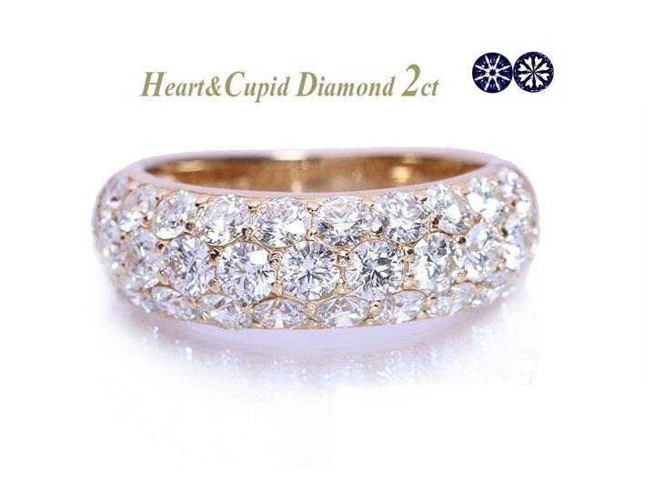 ダイヤモンド2カラットパヴェリング