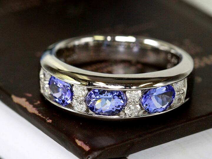 タンザナイト・ダイヤリング 指輪