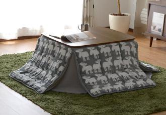 おしゃれ 正方形 継ぎ足 こたつ テーブル カーラ 75×75cm