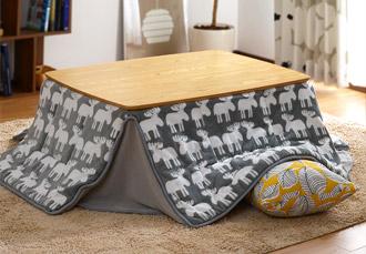 おしゃれ 正方形 継ぎ足 こたつ テーブル カーラ 105×75cm