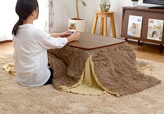 おしゃれ 正方形 継ぎ足 こたつ テーブル カーラ 90×60cm