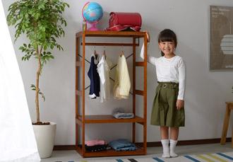 おしゃれ 子供用 ハンガーラック キッズハンガー ルリアプチ 幅60cm