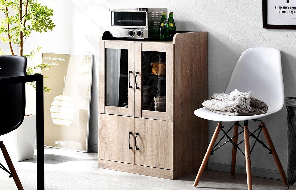 美しいミニ食器棚