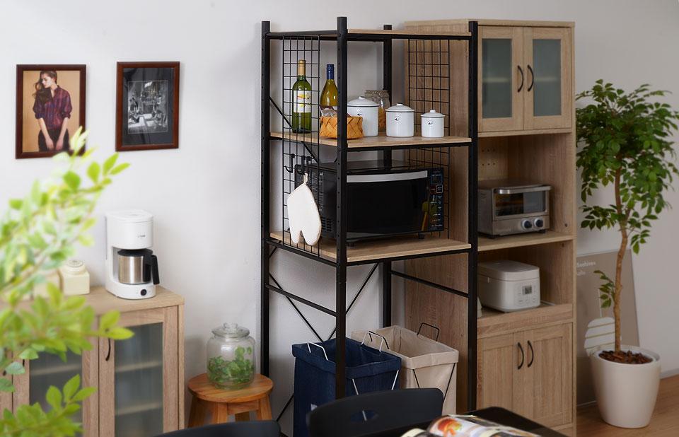 冷蔵庫上にも置ける美デザインの冷蔵庫ラック