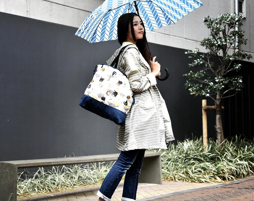 雨の日に使える レイン トートバッグ