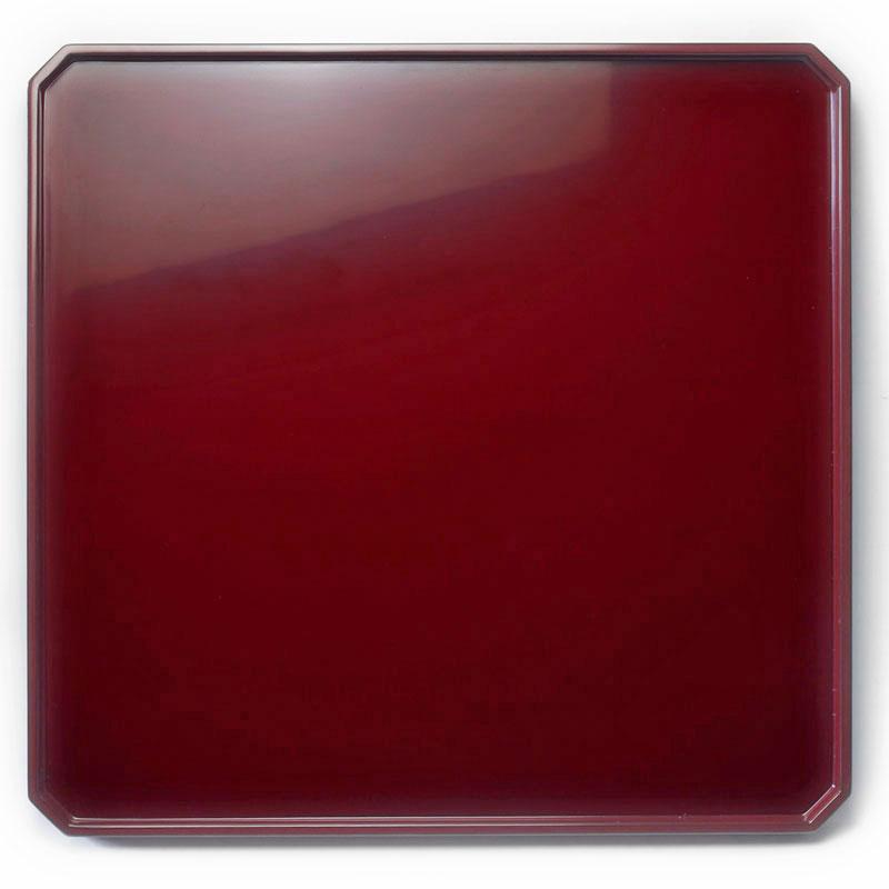 漆器:朱尺2×尺1.5寸角切折敷・奥田志郎