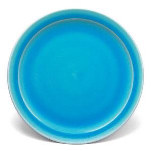 トルコ青釉皿18cm・芦田俊之