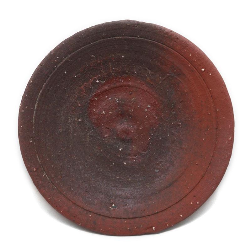焼き締め:焼〆丸皿・17cm・辻村塊