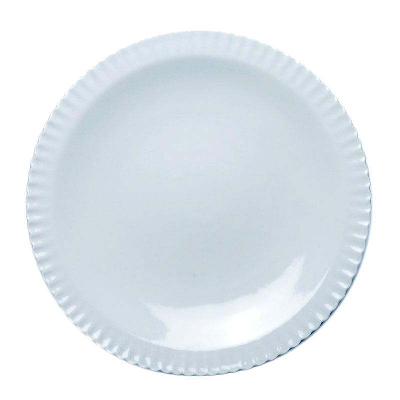白磁:白磁細輪花6寸皿・水野克俊