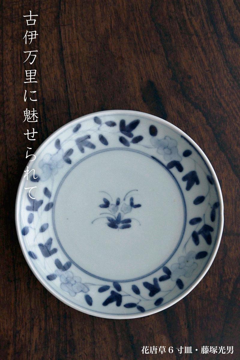 花唐草6寸皿・藤塚光男