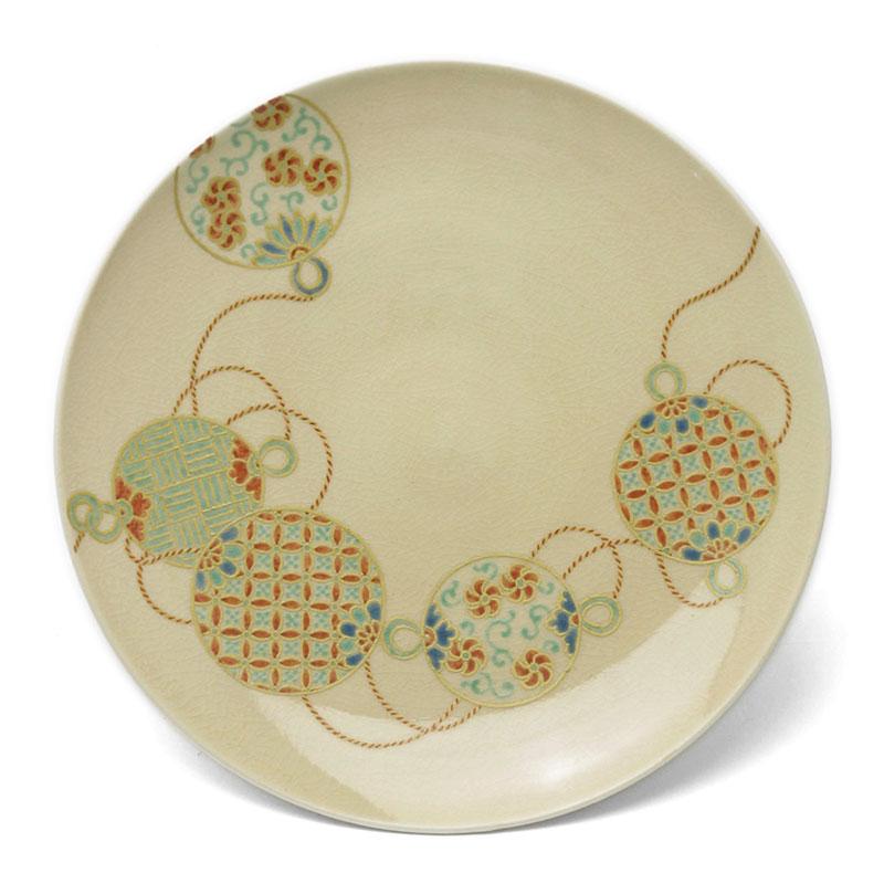 京焼:色絵まり紋5.5寸皿・伏原博之