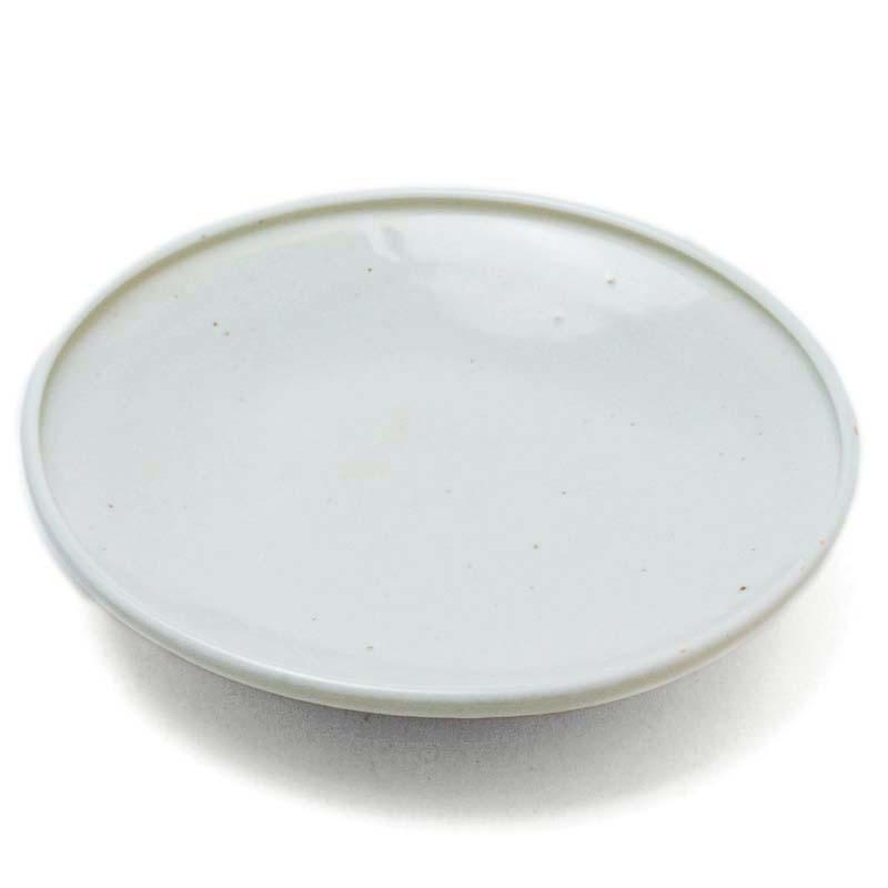 白磁:白磁7寸皿・杉本太郎