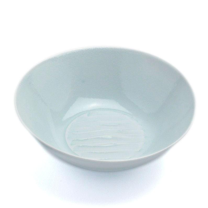白磁・青磁:青白瓷線文平鉢・小・no.1・海老ヶ瀬保