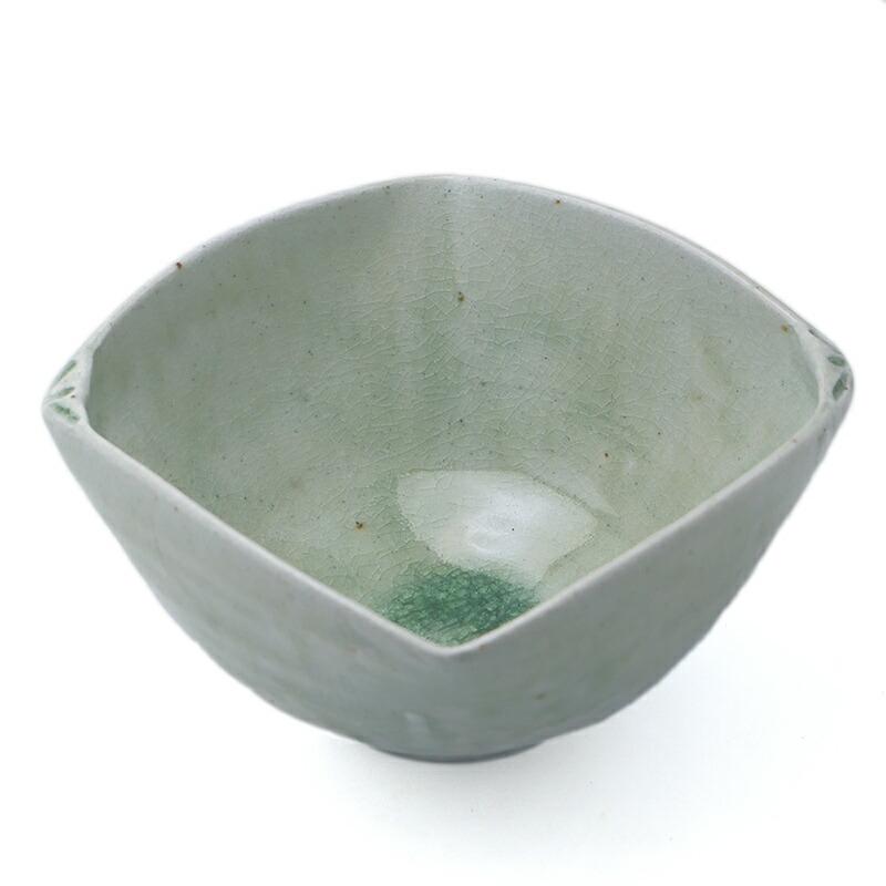 灰釉ビードロ貝5寸鉢・有松進