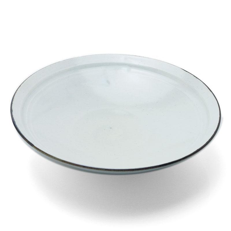 白磁7寸平鉢・長森慶