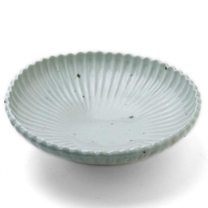 白磁:白磁6寸菊花鉢・杉本太郎