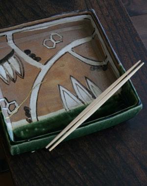 鳴海織部角鉢