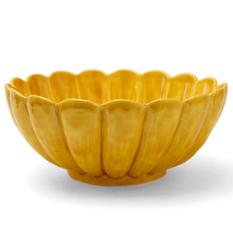 黄交趾菊形鉢・伏原博之
