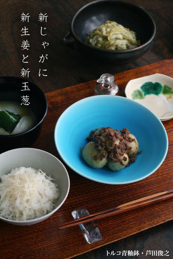 トルコ青釉鉢・芦田俊之園