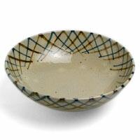 伊賀焼:二色縁網目丸鉢6寸・杉本寿樹