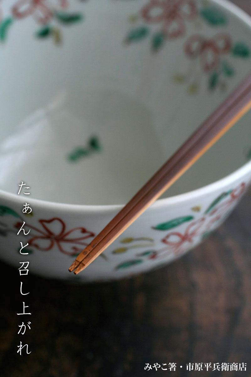 色絵桜絵鉢・須田菁華