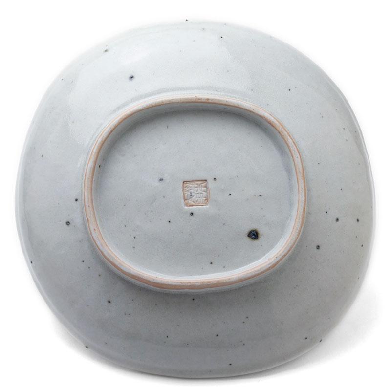 白磁7寸楕円皿・杉本太郎