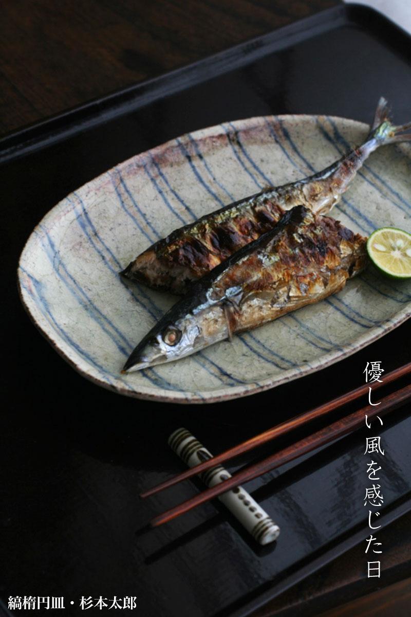 縞楕円皿・杉本太郎|和食器の愉しみ・工芸店ようび