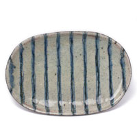 縞楕円皿・杉本太郎