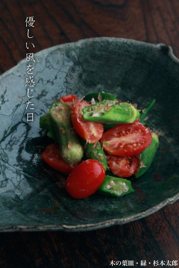 木の葉皿・緑・杉本太郎