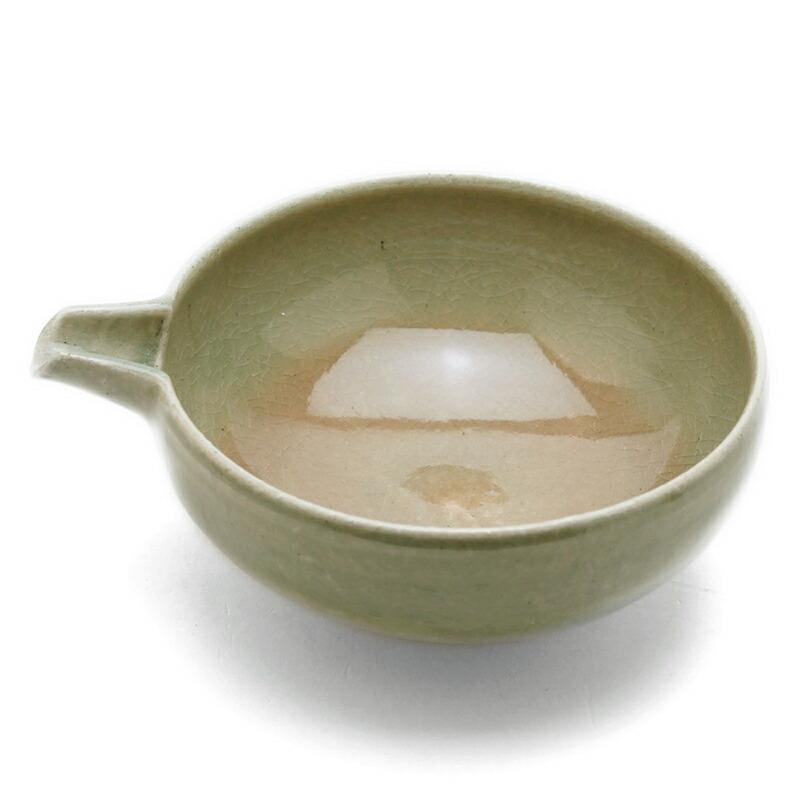 伊賀焼:灰釉片口4寸・土楽