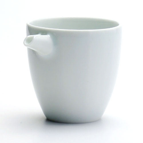 白磁:白磁面取片口・小・水野克俊