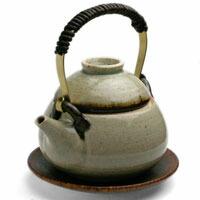 灰釉土瓶蒸・杉本寿樹