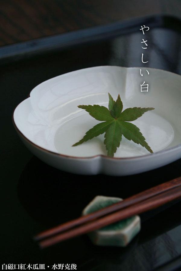 白磁口紅木瓜皿・水野克俊|和食器の愉しみ・工芸店ようび