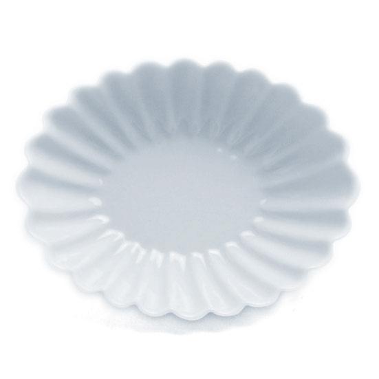白磁輪花楕円小皿・水野克俊