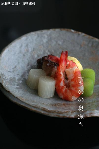 灰釉叩き皿・No.2|山城健司