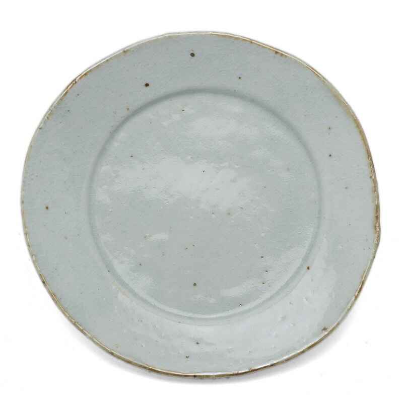 瀬戸焼:銹絵5.5寸◎皿・鍔広・有松進