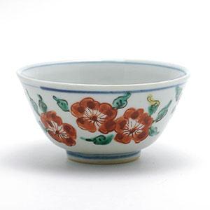 色絵桜文小碗・正木春蔵