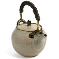 無地土瓶・真鍮取手付・杉本寿樹