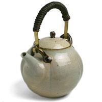 梅土瓶・真鍮取手付・杉本寿樹