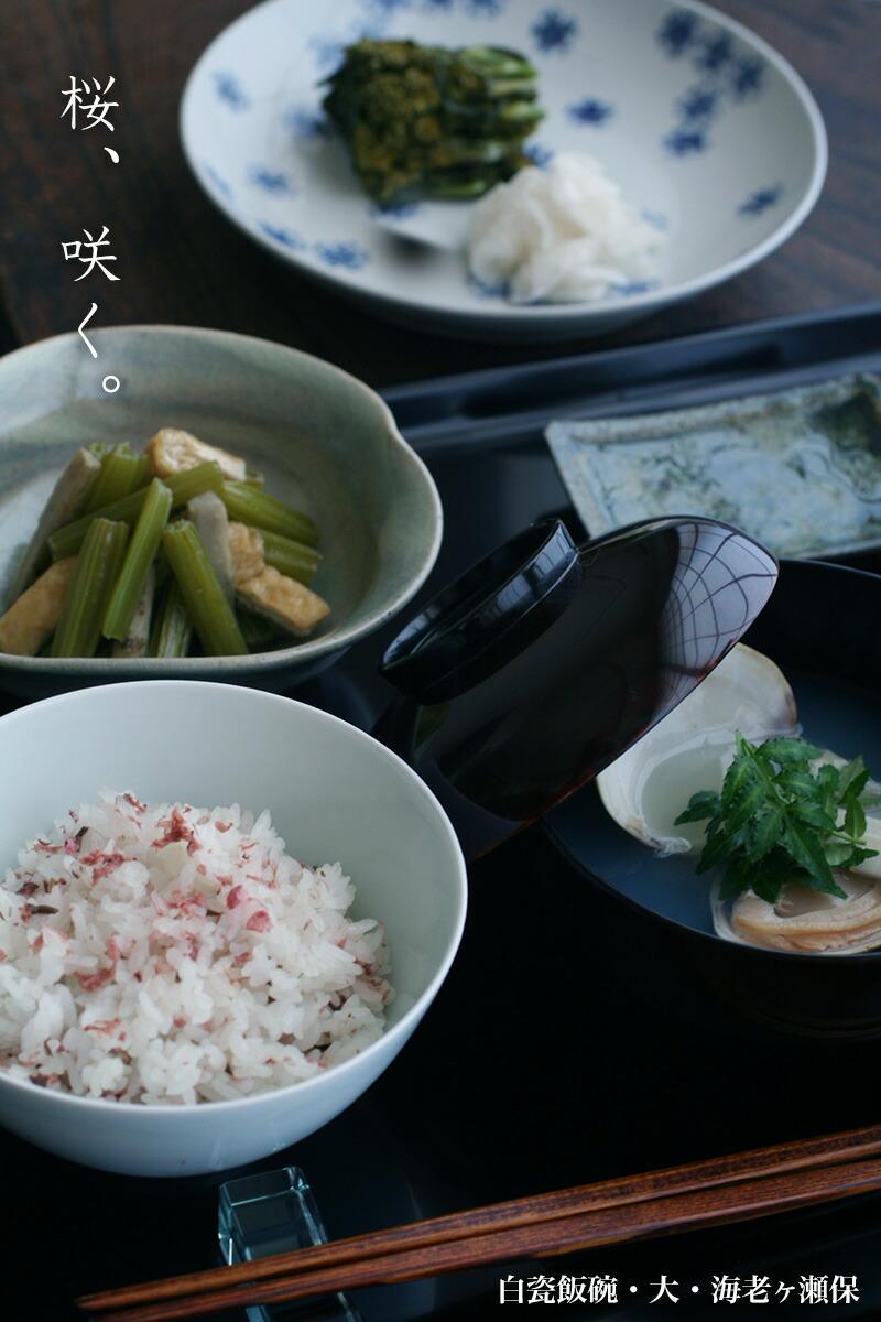 白瓷飯碗・大・海老ヶ瀬保