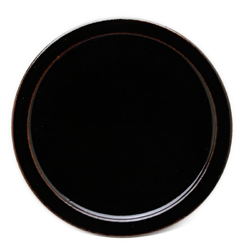 伊賀焼:あめ釉9寸皿・杉本寿樹
