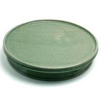 伊賀焼:灰釉台皿・尺・土楽