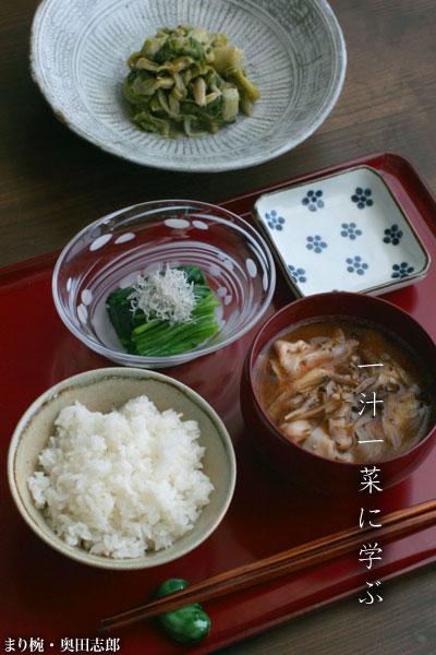【一汁一菜】豚肉の薄切り、ささがき牛蒡、胡椒
