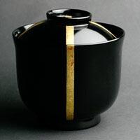 漆器・輪島塗:黒筒椀・十文字・奥田志郎