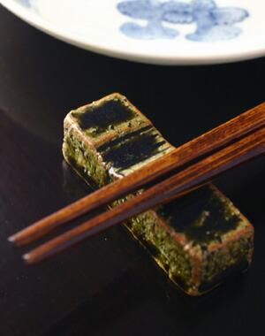 織部箸置(一文字)