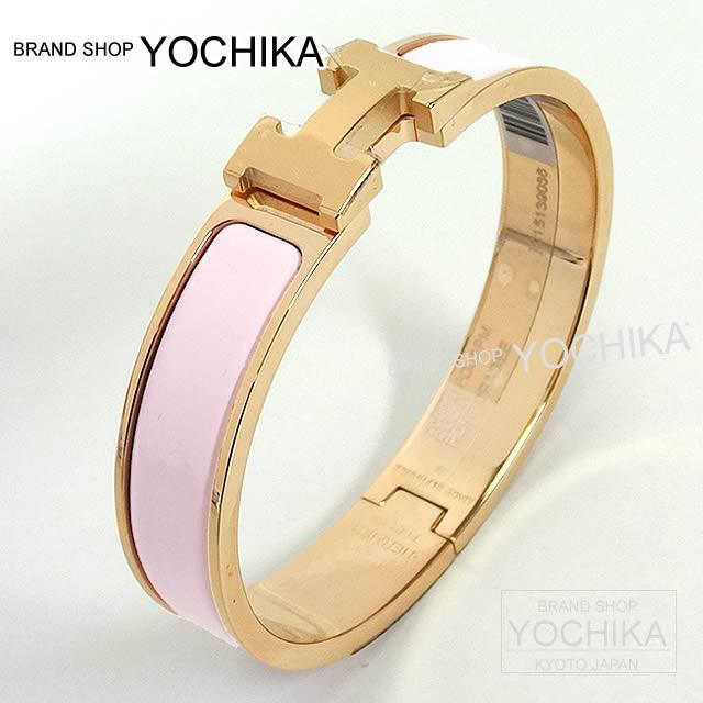 Hermes Bracelet Bangle Click Ashe Pm Rose Dragee Gold Play Ted Is New