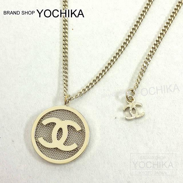 Chanel Round Here Mark Mesh Necklace Gold A99056 New Article Cocomark